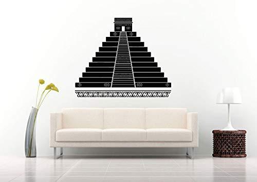 67x56 cm Neueste Design Wandaufkleber Room Decal Pyramide Aztec Alte Kultur Magic Tribe Schlafzimmer Wand-dekor Wandtattoos Wohnzimmer