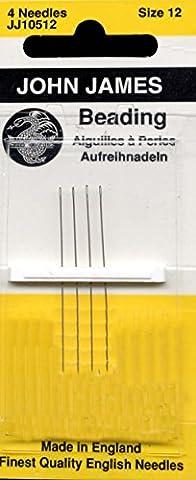 John James Size 12 Beading Needles Qty 1