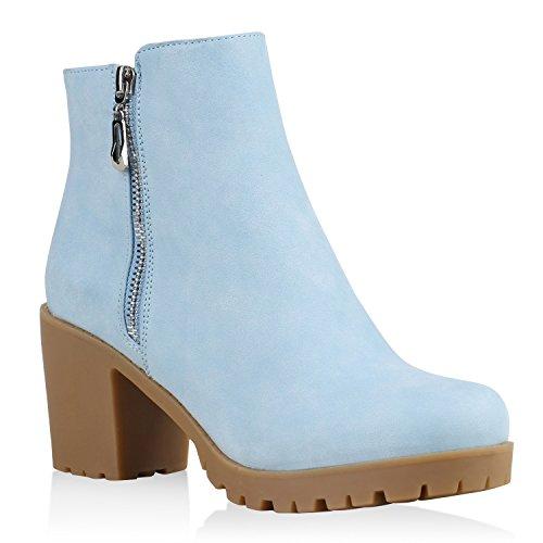 Botas De Tornozelo Mulheres Bloquear Botas De Salto Perfil Único Sapatos Zipper Luz Azul