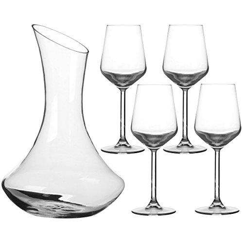 Promobo Set Sommelier Hat Dekanter 1,5l mit 4Gläser a Wein Größen 0,5 (Dekanter Sommelier)