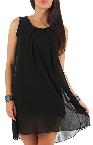Malito Damen Kleid ärmellos | Elegantes Minikleid | Etuikleid mit Unterkleid | Etuikleid mit Rücken Cut-Out 6877 - Italienische Kostüm Frauen