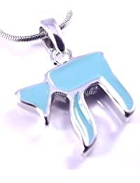 Chai Judaica Necklace And Torquise Pendant