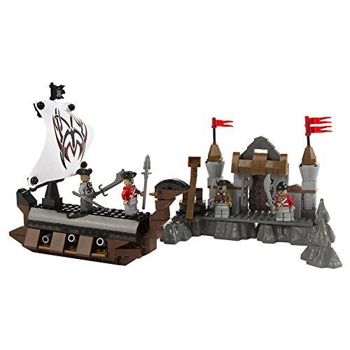 Ausini - Juego de construcción Barco pirata & Fortaleza - 262 piezas (ColorBaby 40756)