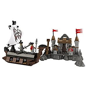 ColorBaby - Juego de construcción barco pirata y fortaleza, 262 piezas (40756)