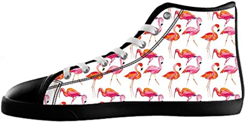 Custom modello modello modello Flamingo Men's Canvas scarpe I lacci delle scarpe in Alto sopra le scarpe da ginnastica di scarpe...   Apparenza Estetica    Maschio/Ragazze Scarpa  f152a3