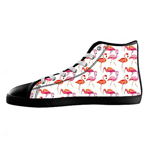Custom Flamingo Pattern Mens Canvas Shoes Chaussures Lace Up High Top pour Sneakers Toile Chaussures de chaussures de toile chaussures de sport A
