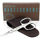 KIBAGA Profi Nagelschere - Auch für Linkshänder geeignet - Extra scharfe Premium Nagel Schere mit gebogener Schneide für stets gepflegte Nägel