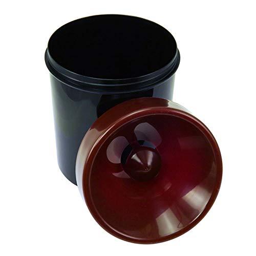 Mini Spucknapf–Kunststoff–Schwarz und Bordeaux