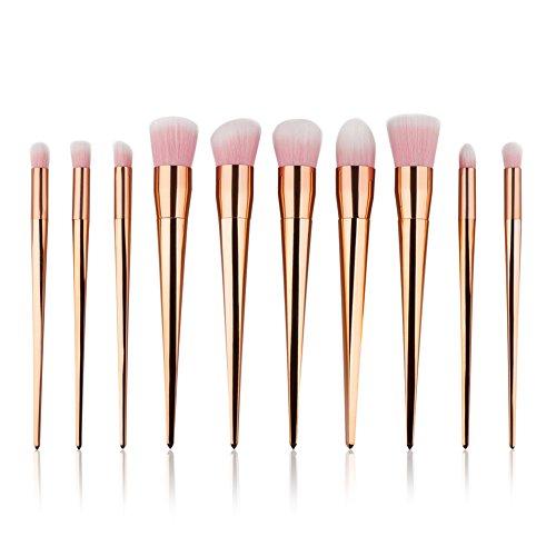 HimanJie 10pcs rosegold Makeup Brushes Set pinceaux de maquillage