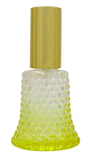 2 Pcs verre jaune Empty Bottles Rechargeable Bouteilles Spray Huile Essentielle 30 ml Parfum Vaporisateur Verre Bouteille