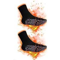 Queta Calcetines magnéticos de turmalina para invierno, Calcetines calentables térmicos Calcetines de turmalina para mujeres Hombres
