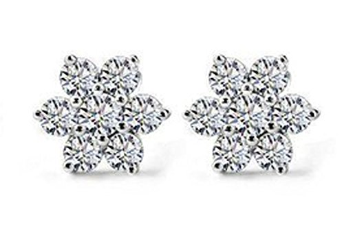 lily-jewelry-silver-plated-snowflake-edelweiss-cubic-zirconia-austrian-crystal-stud-earrings