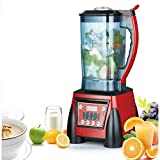GFYWZ Gewerblicher Entsafter Smoothie-Mixer Ice Crusher Grinder 1400W Countertop-Mixer, BPA-frei, 2.2L Smoothiekanne
