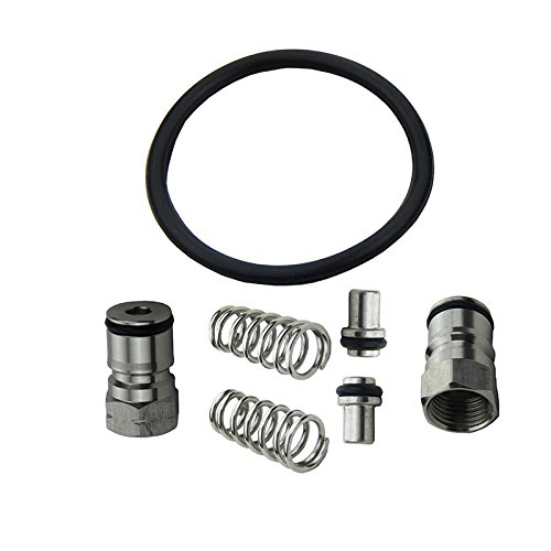 UP100 New Stainless Cornelius Type Keg Ball Lock Post & Poppet Female Thread Gas + Liquid 19/32-18 inch & Keg Seal Replacement Kit O-ring by UP100Ã - Homebrew-keg-kit