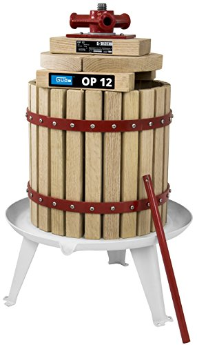 Güde 30003 BP 12 Obstpresse, Saftpresse und Beerenpresse, mechanische Presse inklusive Pressnetz 12 Liter