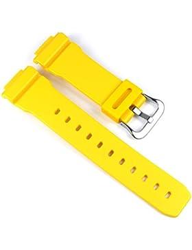 Casio Ersatzband Uhrenarmband Resin Band Gelb für G-5600 G-6900 GW-6900 GW-M5600