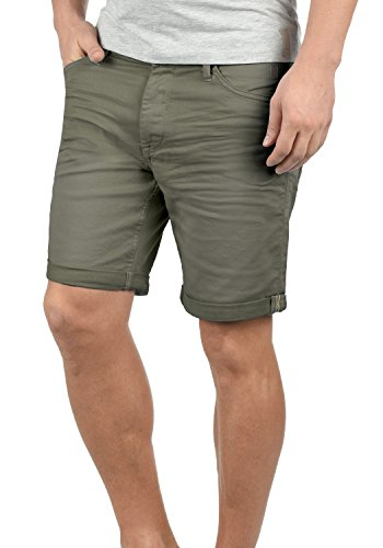Blend Diego Herren Jeans Shorts Kurze Denim Hose Aus Stretch-Material Slim Fit, Größe:3XL, Farbe:Dusty Olive Green (77203) Herren-skinny-leder-jeans