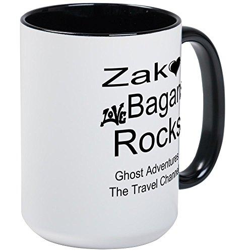 CafePress - Ghost Aventures Grand mug - Mug à café, Large 15 g Blanc Tasse à café, Céramique, White/Black Inside, Taille L