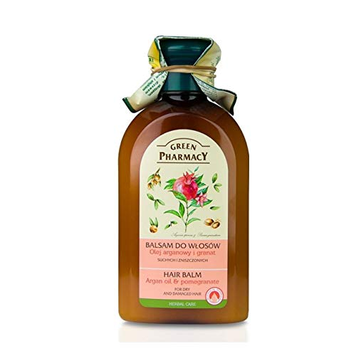 Balm for Dry Hair with Argan Oil and Pomegranate 300ml by Green Pharmacy Cosmetics