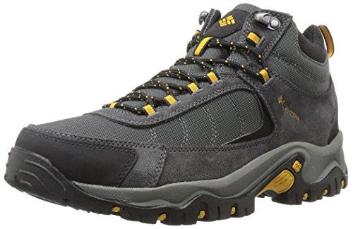 Columbia Mens Granite Ridge Mid Waterproof Hiking Shoe Dark Grey, Golden Yellow