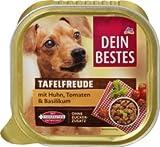 Dein Bestes Nassfutter für Hunde Tafelfreude mit Huhn, Tomaten & Basilikum, 150 g Alleinfuttermittel