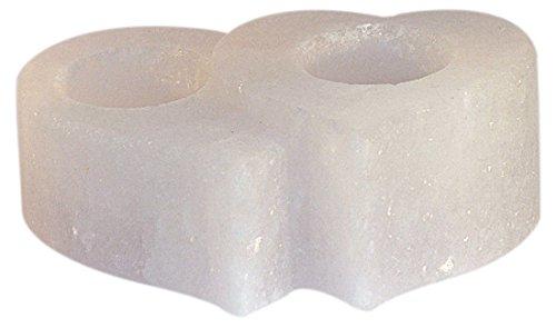 Himalaya salt dreams 4041678004828sale cristallo portacandele twin heart, bianco line