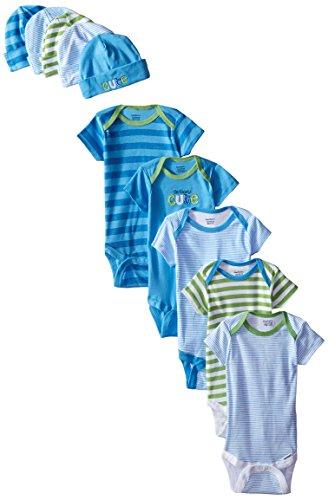 Gerber Baby-Boys Newborn Cars Onesies and Cap Bundle, Cars, 0-6 Months (Pack of 5) -