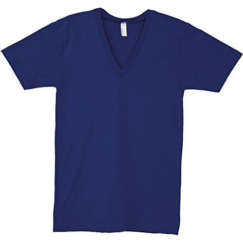 American Apparel Womens/Ladies Fine Jersey Short Sleeve V-Neck T-Shirt Lapis
