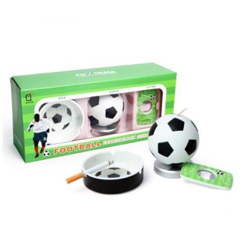 GHKLGY Kreativer Fußball Zahnstocher / Aschenbecher Set / Basketball Zahnstocher Rohr / Opener / High-End Geschenkbox Geschenk , football set