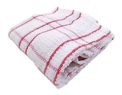 2x Luxus 100% Baumwolle dick groß Tee Handtücher Tartan Check Plaid rot weiß 70x 43-71,1x 43,2cm -