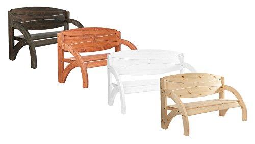 Impag 3 - Sitzer Gartenbank Parkbank Modell Jorn 140 cm - Naturbelassen