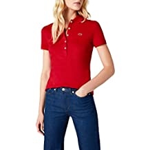 a5d70f22fead Amazon.fr   polo lacoste femme - Rouge
