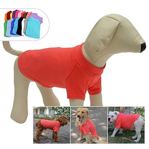 longlongpet 2019 Haustier-Kostüme für Welpen, Hunde, unbeschriftet, T-Shirt, T-Shirts für große, mittelgroße und kleine Hunde, 100% Baumwolle, 18 Farben rosa Lobster Pink - Xxx Große Kostüm
