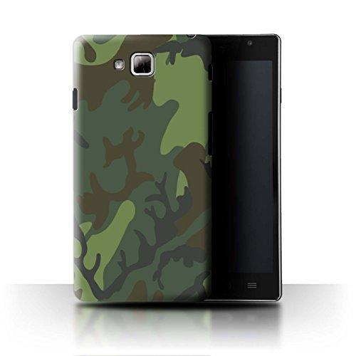 Stuff4® Hülle/Case für LG Optimus L9 II/D605 / Tropisches Retro ERDL Muster/Militär Camouflage Tarnung Kollektion (Camo Lg Optimus L9 Case)