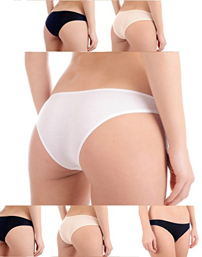 Mr.Caller Womens Natural Bamboo Boody Eco Wear Classic Bikini Comfort! Knickers Lingerie Underwear Panties Seam Free Test