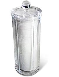 acrylique Transparent Cosmétique Coton Renfort Support / Distributeur (avec haute qualité 3mm acrylique)