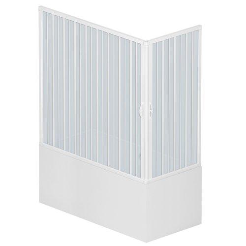 Rollplast BGAL1CONCC28170 Box vasca a soffietto, dim.70 x  170 x H 150 cm, in PVC, a due lati, due ante, con apertura angolare., Bianco