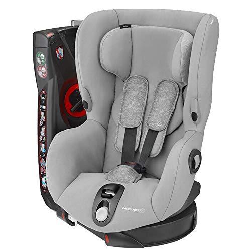 Bébé Confort AXISS \'Nomad Grey\' - Silla infantil giratoria para coche del grupo 1, ajuste extraseguro, reclinable, 9 meses-4 años, 9-18 kg, color gris