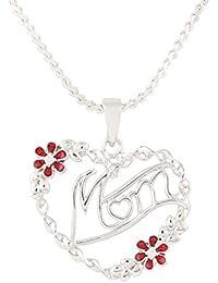 64cf1ea34461 Ananth Joyas mamá Regalo Colgante Moda Joyas cz con American Collar de  Diamantes con Cadena