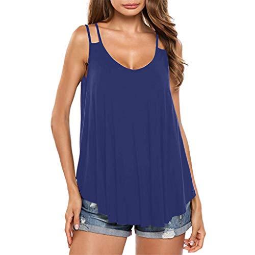 Camiseta de Tirantes Flowy con Cuello en V para Mujer Mujeres...