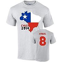 Chile 2014 Country Flag T-shirt (vidal 8)