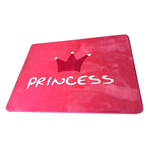 KOOCO Fashion Pink Princess Cartoon Cat Fox Hallway Living Room Bedroom Decorative Large Carpet Area Rug Yoga Play Mat Height Ruler, Pink Princess, 150X200CM 59X78Inch (Ruler Fox)