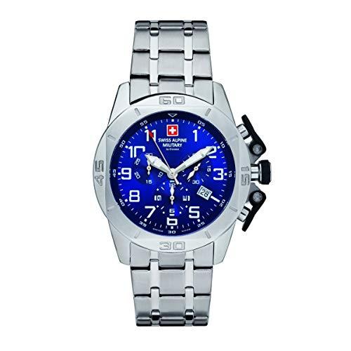 Swiss Alpine Military Herren Uhr Chrono 7063.9135SAM Edelstahl