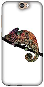 The Racoon Grip printed designer hard back mobile phone case cover for HTC One A9. (Chameleon)