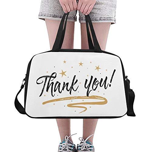 Yushg Danke Anerkennungs großer Yoga Gymnastik Totes Eignung Handtaschen Reise Seesäcke mit Schultergurt Schuhbeutel für Übung Sport Gepäck für Mädchen der Frauen der Frauen im Freien -