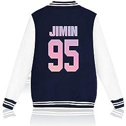 SERAPHY BTS Sudadera con Capucha Bangtan Boys Chaqueta de Beisbol para Hombres y Mujeres Suga Jin Jimin Jung Kook J-Hope Rap-Monster V real-95j S