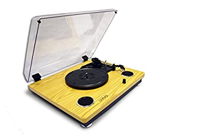 LIVIVO ® Wooden LP Turntable With USB Conversion And Stereo Speakers The Built In Stereo Speakers - Stunning Wooden Finish - Does The Tt300 Play 33 1/3, 45 And 78 Rpm Records, It Also Lets You Convert Them Into High Quality Digital Files By Connecting The
