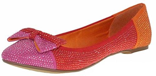 Blink 601193 b ballerines rouge orange rose - pink red orange