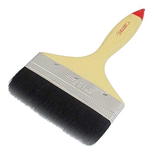 Pinceau de peinture – TOOGOO(R) 5 » de large poignee en bois pointe rouge filament noir en nylon brosse de peintre pour peinture a l'huile