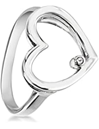 Lily & Lotty  -  925 Sterling-Silber  Silber Rundschliff   transparent Diamant